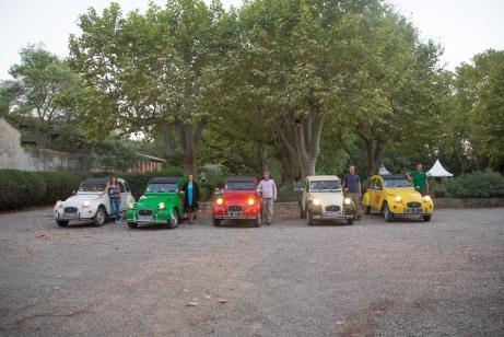 Vin4 heures tour arrivé au chateau de Lignan sur Orb Photo SergeBriez Cap Médiations