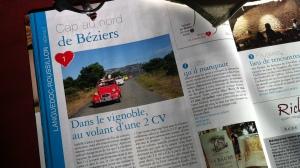 Vin4 heures tour et ses 2CV en Languedoc Roussillon