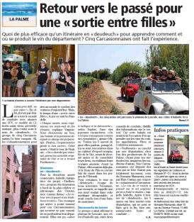 Oenotourisme rétro et balade en 2CV dans les vignes du Fitou à La Palme